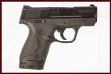 SMITH & WESSON M&P SHIELD 9MM USED GUN INV 214780