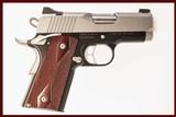 KIMBER ULTRA CDP II 45 ACP USED GUN INV 214739