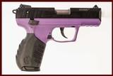 RUGER SR22 PURPLE 22 LR USED GUN INV 214740