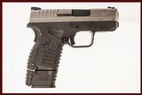 SPRINGFIELD ARMORY XDS 45 ACP USED GUN INV 214850