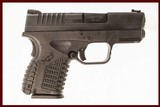 SPRINGFIELD ARMORY XDS 3.3 45 ACP USED GUN INV 215599