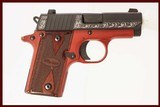 SIG SAUER P238 LADY IN RED 380 ACP USED GUN INV 216205