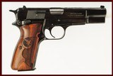 BROWNING HI POWER 9MM USED GUN INV 212331