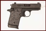 SIG SAUER P938 9MM USED GUN INV 216619 - 1 of 5