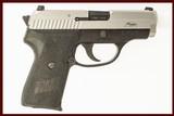 SIG P239 SAS 9MM USED GUN INV 212252