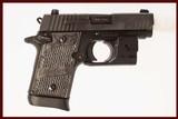 SIG SAUER P938 9MM USED GUN INV 218778
