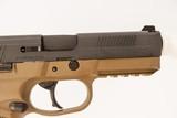 FNH FNX-45 FDE 45 ACP USED GUN INV 219194 - 3 of 5