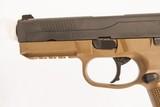 FNH FNX-45 FDE 45 ACP USED GUN INV 219194 - 4 of 5