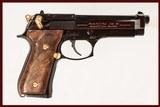 BERETTA 92 EL NRA 9MM USED GUN INV 220014 - 1 of 6