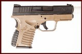 SPRINGFIELD ARMORY XDS 9 MM USED GUN INV 221859