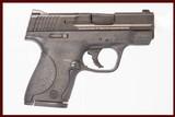 SMITH & WESSON M&P SHIELD 9 MM USED GUN INV 222838