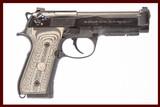BERETTA/WILSON COMBAT 92G 9 MM USED GUN INV 225121