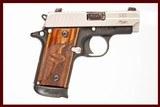 SIG SAUER P238 SAS 380 ACP USED GUN INV 228358