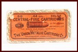 UNOPENED BOX OF THE UNION METALLIC CARTRIDGE CO 44 CAL AMMO USED INV 4-1-562 - 1 of 5