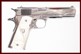 COLT 1911 EL PRESIDENTE 38 SUPER USED GUN INV 232995