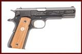 COLT 1911 GOVT MICHIGAN STATE POLICE 60TH ANNIVERSARY 45 ACP USED GUN INV 235783