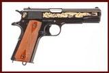 COLT 1911 JOHN MOSES BROWNING COMMEMORATIVE 45 ACP USED GUN INV 235800
