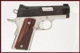 KIMBER ULTRA CARRY II 9 MM USED GUN INV 240760