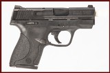SMITH & WESSON M&P9 SHIELD 9 MM USED GUN INV 244953 - 1 of 8
