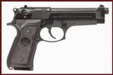 BERETTA 92FS 9 MM USED GUN INV 244012 - 1 of 8