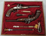 Cased Set of Pedersoli Le Page Target Flintlock Pistols .44