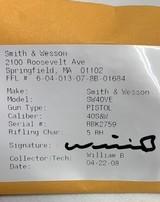 Smith & Wesson model 40VE, S&W 40 caliber semi auto NIBSuper Low Price - 11 of 11