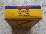 Western Super-X .220 swift vintage cartridge box - 4 of 7