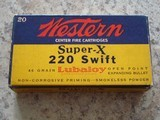 Western Super-X .220 swift vintage cartridge box
