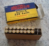 Western Super-X .220 swift vintage cartridge box - 7 of 7