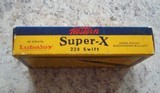 Western Super-X .220 swift vintage cartridge box - 5 of 7