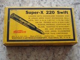 Western Super-X .220 swift vintage cartridge box - 2 of 7