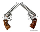 Pair of consecutive serial number Colt Python Elite revolvers from Colt Custom Shop with Colt Archive Letter of authentication