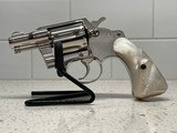 """Mint 1962 Colt Detective Special nickel 2"""" barrel Second Issue Mother-of-Pearl (MOP) grips"""