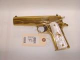 RARE Colt 38 Super Gold Plated Lew Horton Exclusive - 1 of 9