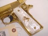 RARE Colt 38 Super Gold Plated Lew Horton Exclusive - 2 of 9