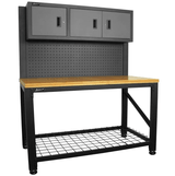 "Homak Reloading Workbench Bench 59"" 3-Dr Ammo Workstation 
