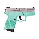 Taurus G2C 9mm Sub-Compact Pistol with Cyan Frame and Stainless Slide - 1-G2C939-12C
