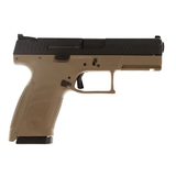"CZ-USA CZ P-10 C, 9mm, Compact, (2)-15Rd, FDE, 4.02"" Night Sights - 91521"