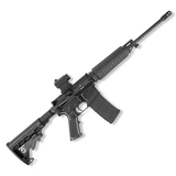 "Bushmaster QRC AR-15 Semi Auto Rifle 5.56 NATO 16"" Barrel 30 Rounds Collapsible Stock Red Dot Sight Melonite Black - 91046"