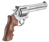 Ruger GP100 Revolver .357mag 6in Heavy 6rd Stainless Steel W/ Houge Wood Grip With Finger Grooves - 1759