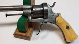 """Jean Le Cleric Pin-Fire Revolver """"Pocket Pistol"""" – Very Nice - 8 of 15"""