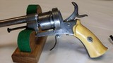 """Jean Le Cleric Pin-Fire Revolver """"Pocket Pistol"""" – Very Nice - 9 of 15"""