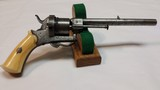 """Jean Le Cleric Pin-Fire Revolver """"Pocket Pistol"""" – Very Nice"""