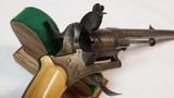"""Jean Le Cleric Pin-Fire Revolver """"Pocket Pistol"""" – Very Nice - 12 of 15"""