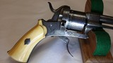"""Jean Le Cleric Pin-Fire Revolver """"Pocket Pistol"""" – Very Nice - 4 of 15"""