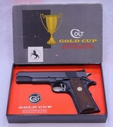 COLT, National Match, Gold Cup, Mfg'd 1969, SN: 35649 NM