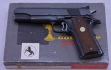 COLT, National Match, Gold Cup, Mfg'd 1969, SN: 35649 NM - 4 of 20