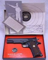 COLT, National Match, Gold Cup, Mfg'd 1969, SN: 35649 NM - 3 of 20