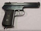 Czechoslovakia, CZ-38, .380 D. A. only Semi Auto Pistol, NAZI use, Excellent Condition - 4 of 20