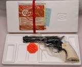 """COLT Frontier Six Shooter, .44-40 x 4 3/4"""", Full Blue, Factory Ivory, NEW IN BOX"""